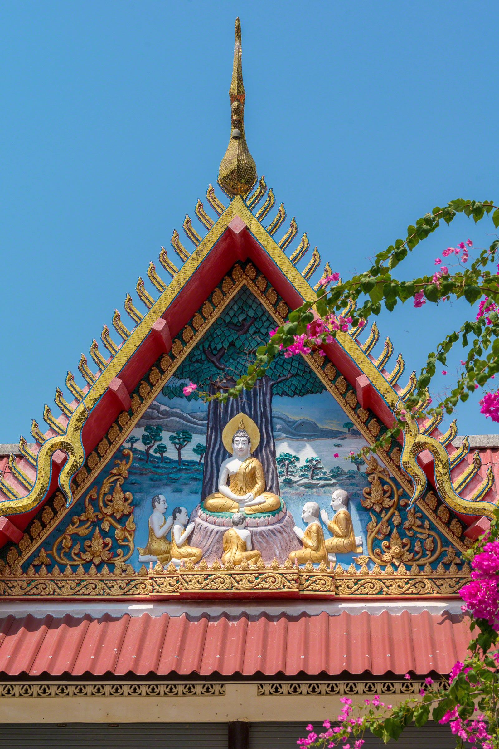 Colorful Buddhist Temple Roof
