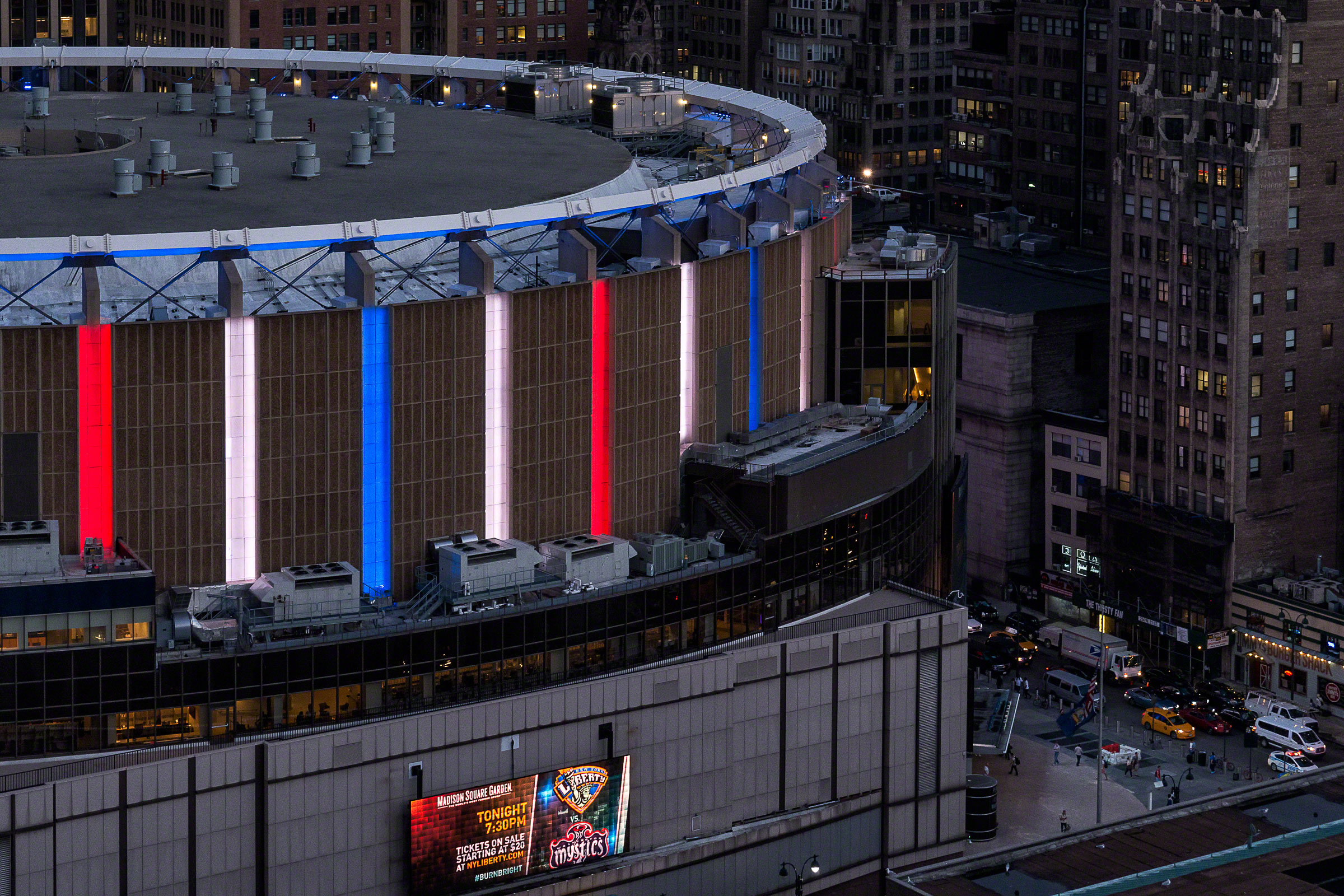 Illuminated Madison Square Garden